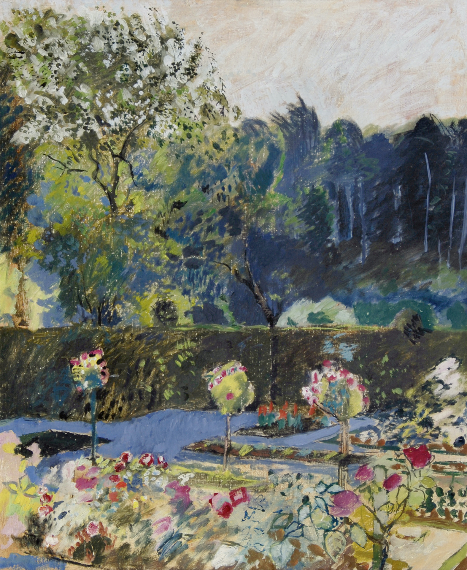 Amiet Cuno, Garten mit Wald