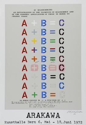 Ausstellungsplakate, 20 Plakate: G. Förg; S. Hutter; C. Schifferle; M. Raetz; J. Kounellis; G. Camesi; O. Melcher; R. Iseli usw.