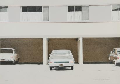 Bechtle Robert Alan, Parkende Autos vor einer Häuserzeile