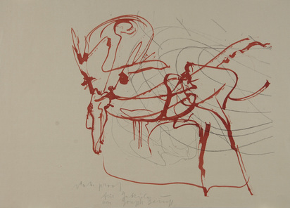 "Beuys Joseph, Untitled (Hirsch und Sonne), from ""Spur I"""