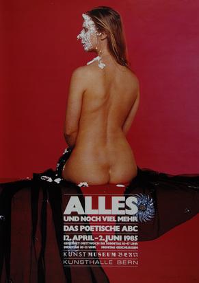 Ausstellungsplakate, 19 posters: M. Raetz; T. Cragg; U. Lüthi; R. Iseli; R. Signer; G. Winner; C. Garache etc.
