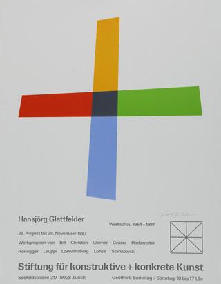 Ausstellungsplakate, 19 posters: D. Roth; M. Raetz; J. Kounellis; R. Signer; J. Chamberlain; K. Gerstner; R. Bleckner etc.
