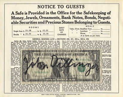 Beuys Joseph, Notice to Guests