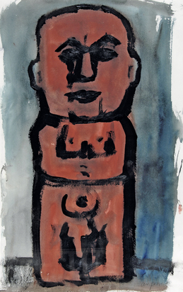 Penck A.R., Untitled (Male Nude)