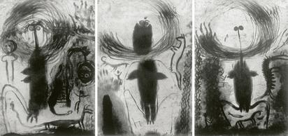 Cahn Miriam, Triptych. Lesen in Staub - das genaue hinsehen