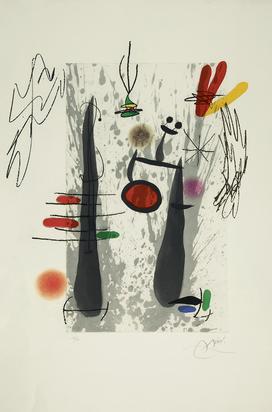 Miró Joan, La longue et l'évaporée