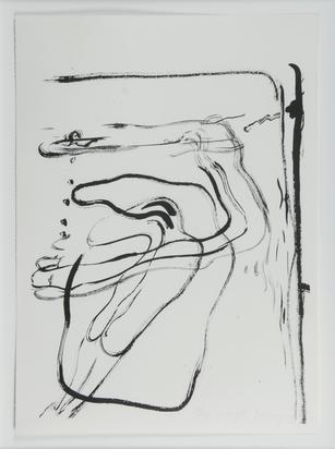 """Beuys Joseph, O.T. (Schwimmer unter Wasser), aus """"Spur I"""""""