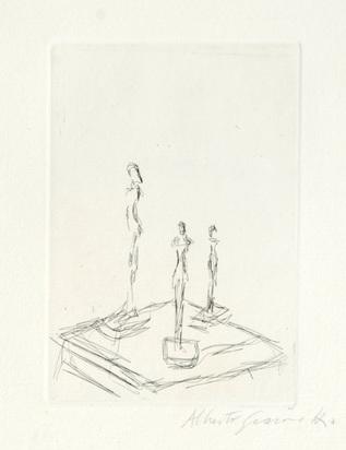"Giacometti Alberto, Trois Figurines, from ""Katalog Kornfeld & Klipstein"""