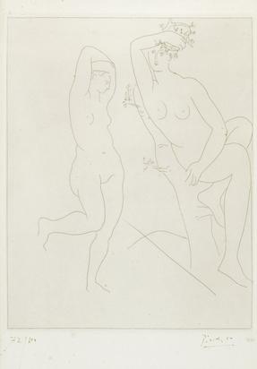 Picasso Pablo, Deux femmes nues, dont une dans un arbre