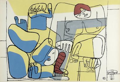 """Corbusier Le, 1939. Chute de Barcelone, from  """"Cortège..."""""""