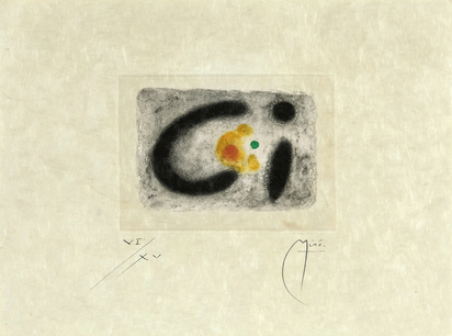 "Miró Joan, Sheet from ""Fusées"""
