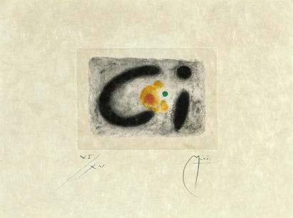 "Miró Joan, Blatt aus ""Fusées"""
