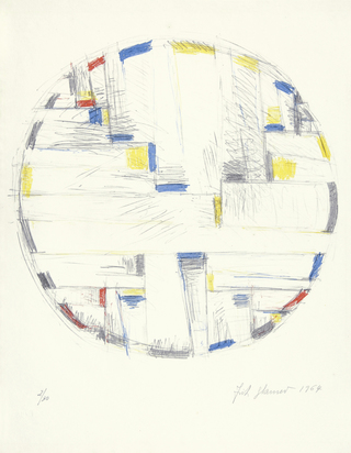 Glarner Fritz, Color Drawing For Tondo
