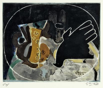 Braque Georges, after. Pichet et oiseau