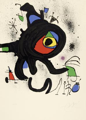 """Miró Joan, Affiche pour l'exposition """"Oeuvre gravé original"""""""