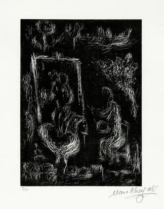 """Chagall Marc, Faut-il peindre la terre, le ciel, mon coeur, aus """"Marc Chagall. Six gravures sur linoléum"""""""