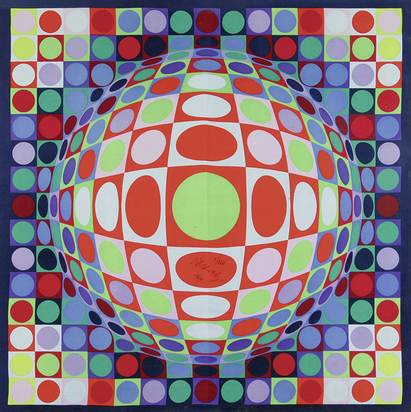 Vasarely Victor, Draft for a Silkprint