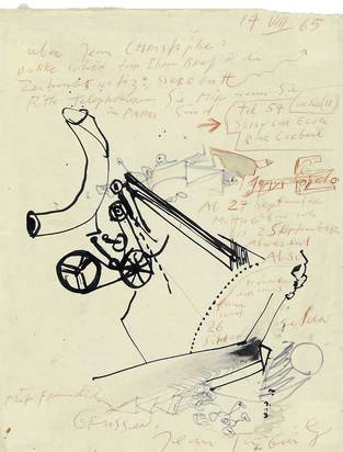 Tinguely Jean, Letter to Jean-Christophe (Ammann)