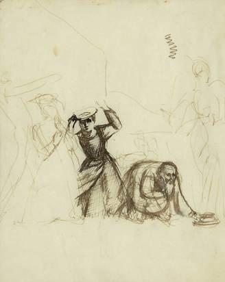 Balthus, L'ange Raphaël quitte Tobie et sa famille
