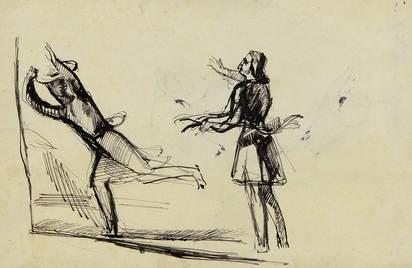 Balthus, Jeune fille effrayée