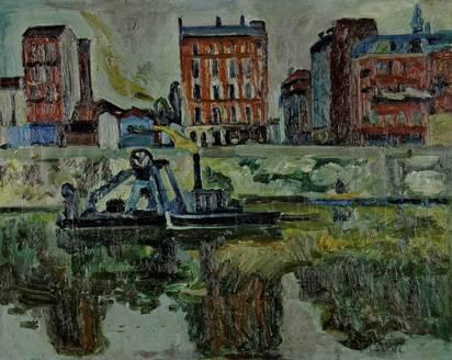 Liner Carl, Lastkahn auf der Seine