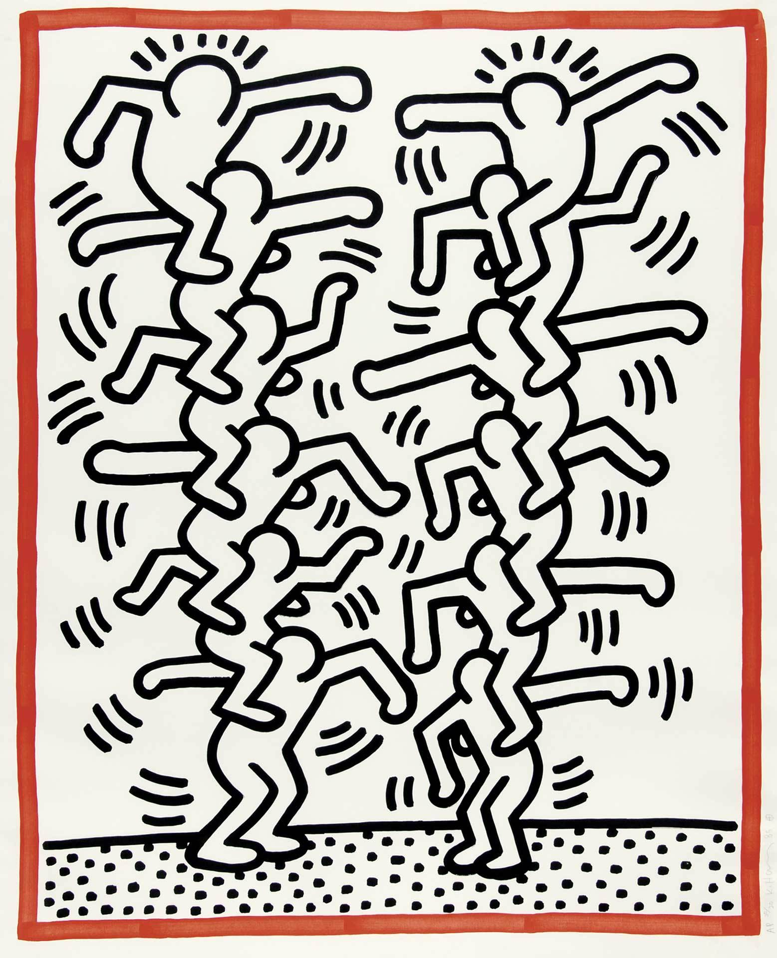 """Haring Keith, Untitled, from """"Three Lithographs"""""""