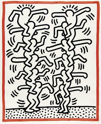 "Haring Keith, Untitled, from ""Three Lithographs"""