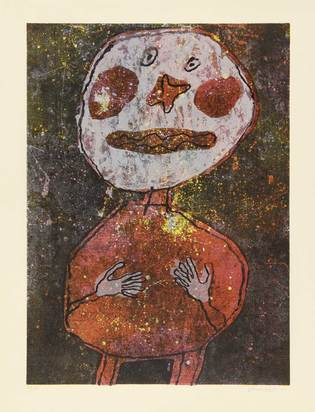 Dubuffet Jean, Personnage au costume rouge