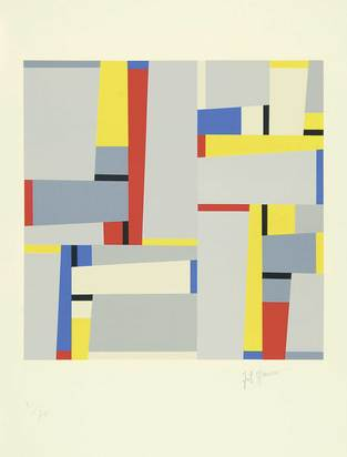 Glarner Fritz, Composition (Relation Painting Nr. 96)