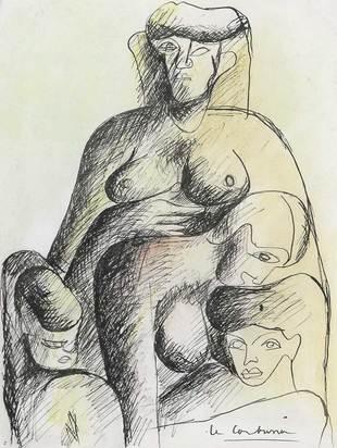 Corbusier Le, Groupe de quatre femmes nues