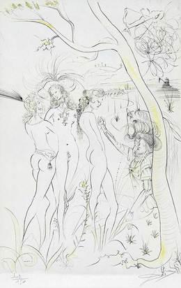 """Dalí Salvador, Jugement de Pâris, from """"Suite mythologique nouvelle"""""""