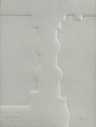 "Chillida Eduardo, Sheet from ""Parmenide - La Poeme"" (2/6)"