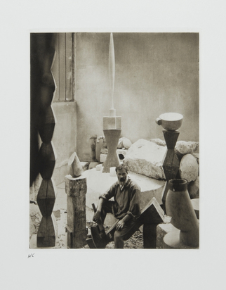 "Steichen Edward, Brancusi in his Studio, 1927, from ""Edward Steichen. The Early Years, 1900-1927"""
