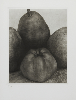 "Steichen Edward, Three Pears and an Apple, France, approx. 1921, from ""Edward Steichen. Early Years 1900-1927"""
