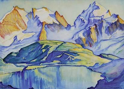 Porges Clara, Blick von der Fuorcla Surlej auf Berninagruppe