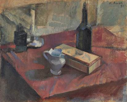 Danioth Heinrich, Still Life with Boccalino and Candle