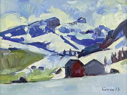 Liner Carl, Kamor und Hoher Kasten im Winter