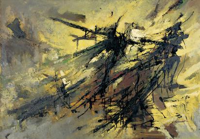 Ebneth Lajos von, Abstract Composition, 1960