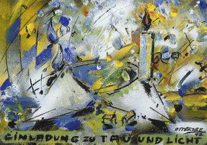 Attersee Christian Ludwig, Einladung zu Tau und Licht, 1992