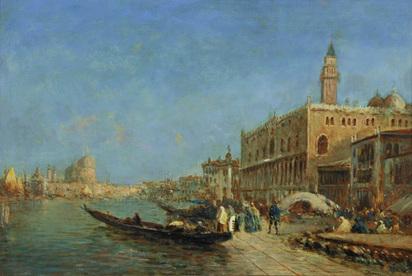 Ziem Felix, Le Quai des Esclavons et le Palais des Doges, 1878