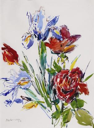 Kokoschka Oskar, Flowers, 1972