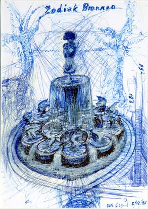 Giger Hansruedi, Zodiak Brunnen, 1996