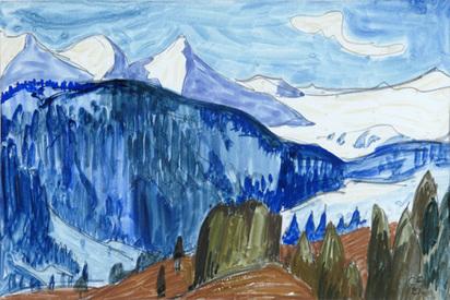 Amiet Cuno, Berglandschaft, 1921