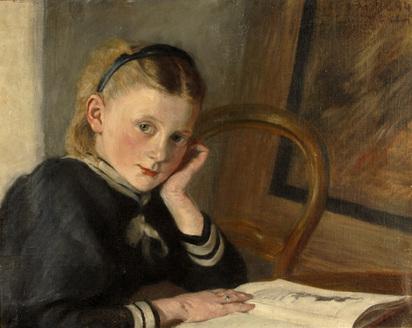 Liner Carl August, Ella (sister of the artist), 1894