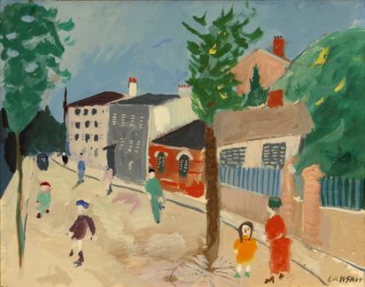 Lanskoy André, Scène de rue avec personnages, 1935-38