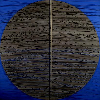 Soto Jesus Raphael, Grand rond avec bleu, 1972