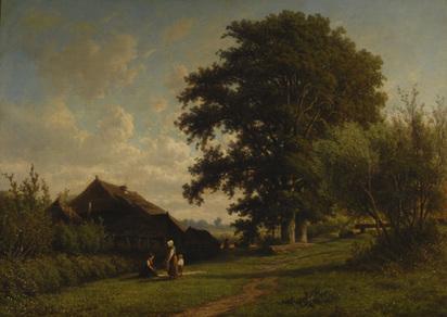 Mollinger Alexander, Haus am Waldrand, 1865