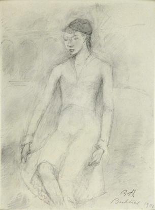 Auberjonois René, Femme assise