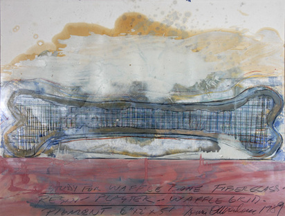 Oppenheim Dennis, Study for Waffle Bone Fiberglass, 1989