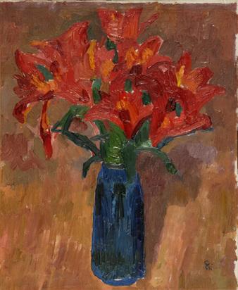 Giacometti Giovanni, Tulipani, (Vase mit Tulpen), 1916/17